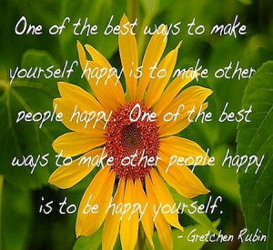 Being happy and making happy quote