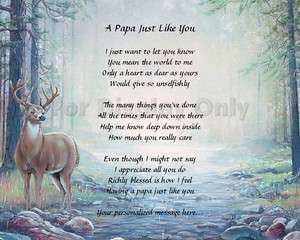 Papa Gift Grandfather Grandpa Personalized Poem Birthday Or Christmas