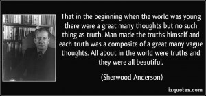 More Sherwood Anderson Quotes
