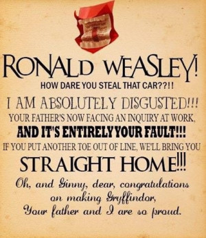 harry potter ron howler