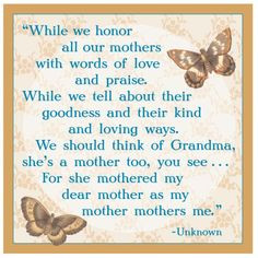Mothers Day Saying For Grandma A Mothers Day Tribute To Grandmothers ...