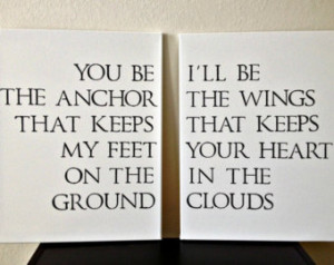 ... Quote on Canvas – You Be The Anchor That Keeps My Feet On