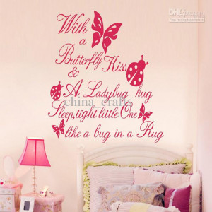 Wall Quotes Vinyl Wall Stickers 55x60cm Wall Art Stickers Nursery Wall ...