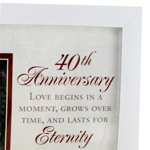 ... Wedding Gifts 40th Anniversary 40th Ruby Wedding Anniversary 6 x 4
