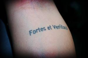 Fortes et veritas Tattoo Quotes for Girls