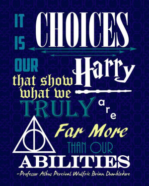 16x20 Dumbledore Quote Poster Harry Potter by PrintsOfTheNerds, $20.00