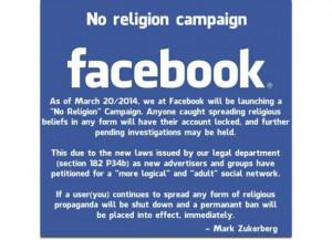 No Religion Compaign Facebook