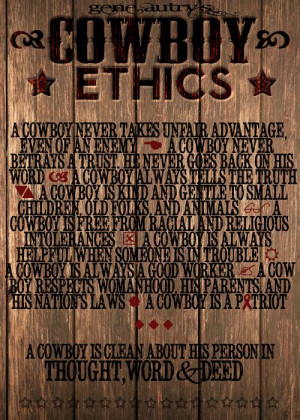 gene autry's cowboy ethics - created via photoshop by yours truly :)