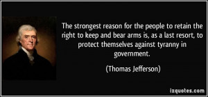reason for the people to retain the right to keep and bear arms ...
