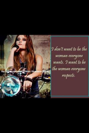 Biker chick respect