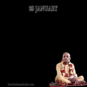 Srila Prabhupada Quotes For Month January 29