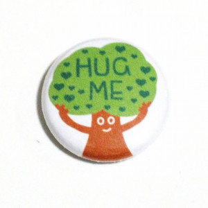 Tree Hugger Pin Free Hugs Cute Accessories Trees Nature Buttons Heart ...