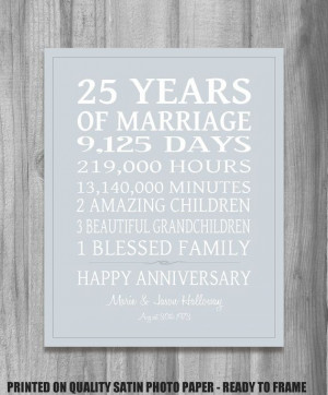 ... 25Th Wedding Anniversary Gifts, 25Th Anniversary Gift, 25 Anniversary