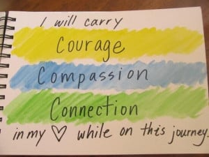 Courage compassion connection