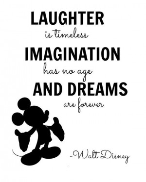 Walt Disney Imagination Quote Digital Wall Art