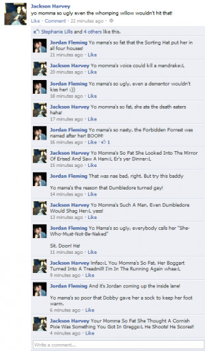 ... potter yo mama jokes source http tumblr com tagged yo mamma jokes