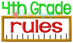 4th Grade Rules Applique