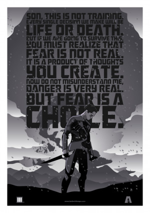 Fear Is A Choice Quote Image Credit: Lain Lee 3 / http://dribbble.com ...