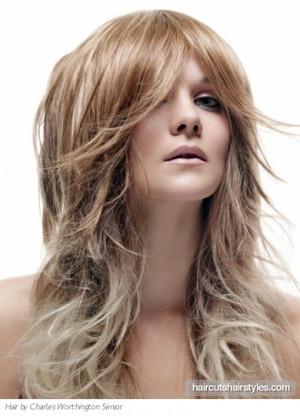 long dip dye hairstyle long hairstyles gallery
