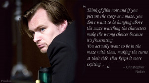 Christopher nolan quote wallpaper story as maze by thepunkis D I Qk