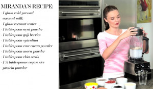 Miranda Kerr supermodel health secrets and recipe videos for Net A ...