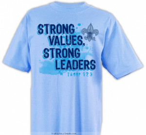 Strong Values, Strong Leaders T-shirt Design