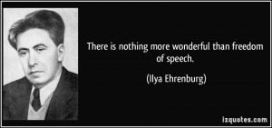 ... freedom of speech ilya ehrenburg 341931 Quotes On Freedom Of Speech