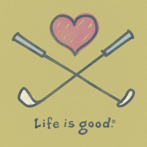 Women's Love To Golf Short Sleeve Tee|Life is good