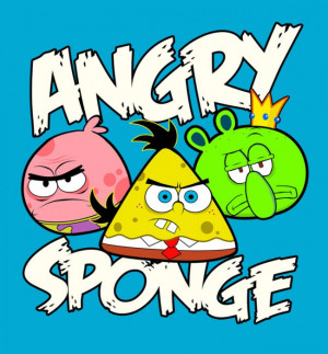 angry birds_bob esponja