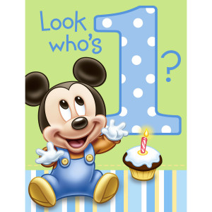 ... birthday mickey mouse first birthday invitation part number pe