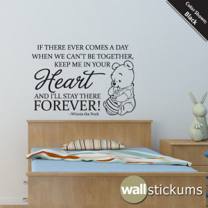 Nursery Wall Decal Quote: Winnie the Pooh Heart Forever Quote ...