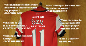 ... the good have expressed their surprise at Real's decision to sell Ozil