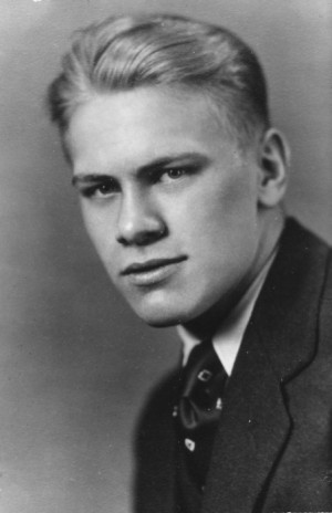 Gerald Ford in High School, 1931. (Ford Library Museum)