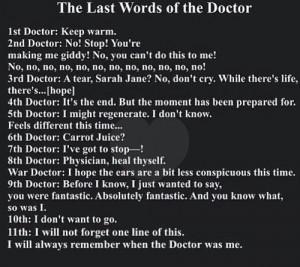 The Doctors last words