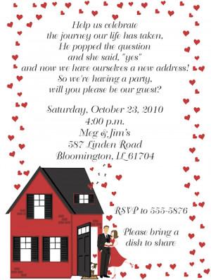 Shop our Store > Housewarming Engagement Party Invitations
