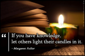 EmilysQuotes.Com - knowledge, light, candles, being a good person ...