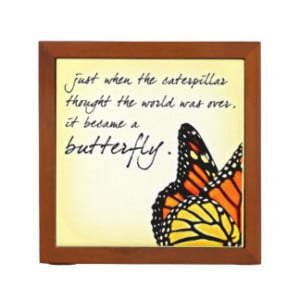 Butterfly Life Struggle Inspirational Quotes Desk Organizers