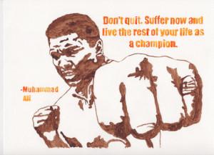 Muhammad Ali 9x12 Quote Watercolor Print