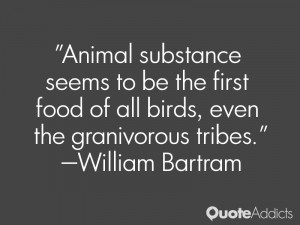william bartram quotes animal substance seems to be the first food of ...
