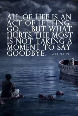 Life of Pi. If you haven't seen this movie, you really should. It is ...