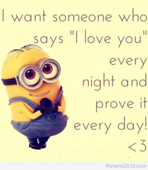 Love Quotes For Him Minions : Minion Love Quotes For Him. QuotesGram