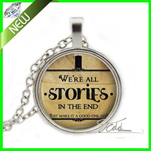 ... Quote Jewelry Charm Silver Dr Who Gift Ideas Glass Cabochon Necklaces