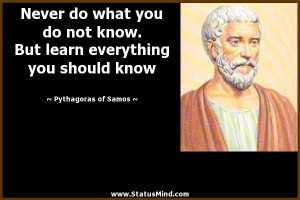 Pythagoras Quotes Wise Quotes