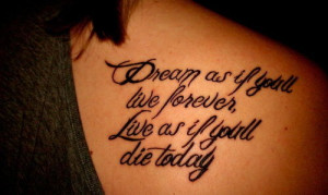 home back tattoos life guiding quote tattoo on back