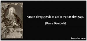 More Daniel Bernoulli Quotes