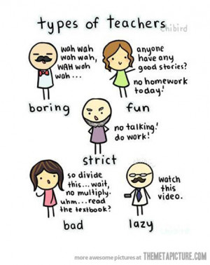 Funny photos funny types of teachers