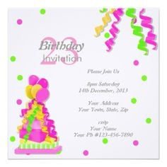 23rd Birthday Party Invitation