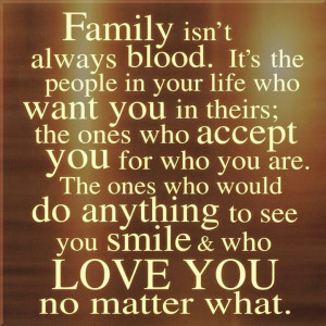 Friends are family you choose yourself :) We can't always be - but ...