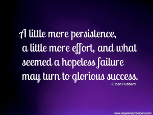 Persistence and a little more effort