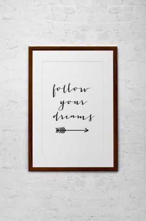 Inspirational Quote - Modern Calligraphy Typography Print - Home Decor ...